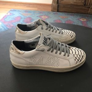 P448 leather low top sneaker